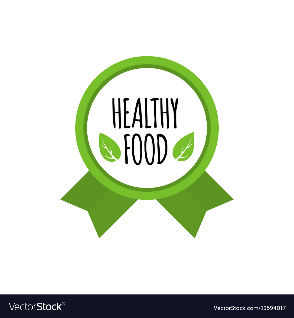 Bio food badge. Vegan vector logo. Healthy food design Vector illustration.